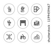 recreation icon set. collection ... | Shutterstock .eps vector #1199459467