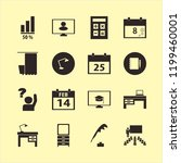 desk icon. desk vector icons... | Shutterstock .eps vector #1199460001