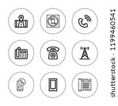 receiver icon set. collection... | Shutterstock .eps vector #1199460541