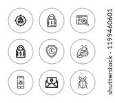 antivirus icon set. collection... | Shutterstock .eps vector #1199460601