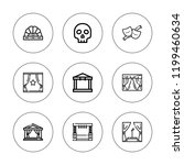 drama icon set. collection of 9 ... | Shutterstock .eps vector #1199460634