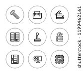 hardware icon set. collection... | Shutterstock .eps vector #1199462161