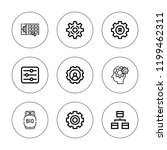 mechanism icon set. collection... | Shutterstock .eps vector #1199462311
