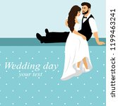 invitation card with the bride... | Shutterstock .eps vector #1199463241