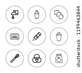 mix icon set. collection of 9... | Shutterstock .eps vector #1199463844