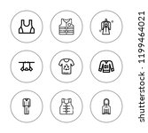 jacket icon set. collection of... | Shutterstock .eps vector #1199464021