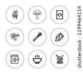 recipe icon set. collection of...   Shutterstock .eps vector #1199464114