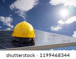 solar energy concept with... | Shutterstock . vector #1199468344