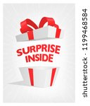 vector surprise open gift box. | Shutterstock .eps vector #1199468584