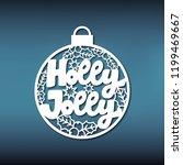 template christmas ball for...   Shutterstock .eps vector #1199469667