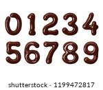 numbers made of melted... | Shutterstock . vector #1199472817