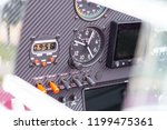 instrument panel on the sport... | Shutterstock . vector #1199475361