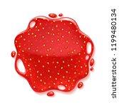strawberry jam splash   round... | Shutterstock .eps vector #1199480134