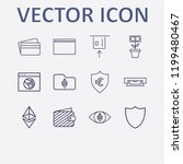 outline 12 banking icon set.... | Shutterstock .eps vector #1199480467