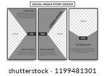 editable noir social media... | Shutterstock .eps vector #1199481301