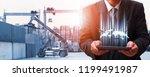 transportation  import export... | Shutterstock . vector #1199491987