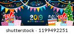 happy new year 2019  greeting... | Shutterstock .eps vector #1199492251
