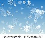 snow flakes falling macro... | Shutterstock .eps vector #1199508304