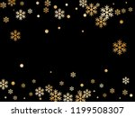 winter snowflakes and circles... | Shutterstock .eps vector #1199508307