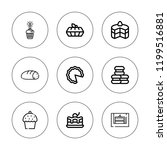 muffin icon set. collection of... | Shutterstock .eps vector #1199516881