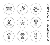 reward icon set. collection of... | Shutterstock .eps vector #1199516884
