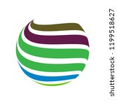 abstract globe stripes sphere ... | Shutterstock .eps vector #1199518627