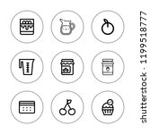 jam icon set. collection of 9... | Shutterstock .eps vector #1199518777