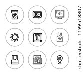 blank icon set. collection of 9 ...