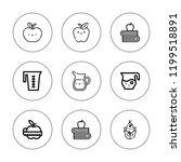 nutritious icon set. collection ... | Shutterstock .eps vector #1199518891