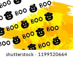 halloween background with... | Shutterstock .eps vector #1199520664