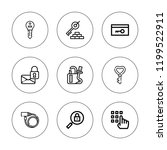 keyhole icon set. collection of ... | Shutterstock .eps vector #1199522911