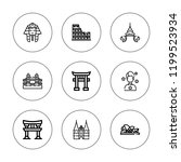 famous icon set. collection of... | Shutterstock .eps vector #1199523934