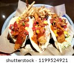 soft focus fish tacos of the...