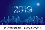 happy new year 2019 greeting... | Shutterstock .eps vector #1199529244
