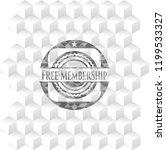 free membership grey badge with ... | Shutterstock .eps vector #1199533327