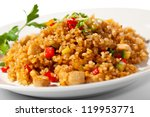 chinese cuisine   fried rice... | Shutterstock . vector #119953771