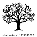 illustration of tree silhouette | Shutterstock .eps vector #1199545627