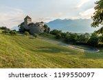 a vaduz castle from... | Shutterstock . vector #1199550097
