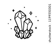 hand drawn crystals... | Shutterstock .eps vector #1199550301