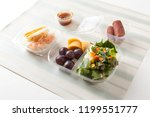 lunch box food for diet with... | Shutterstock . vector #1199551777