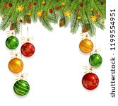 decorations with christmas... | Shutterstock . vector #1199554951