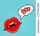 pop art style. vampire lips and ... | Shutterstock . vector #1199554984