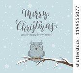 lettering merry christmas on... | Shutterstock . vector #1199555077