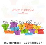 holiday theme. colorful... | Shutterstock . vector #1199555137