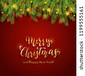 decorations with christmas... | Shutterstock . vector #1199555161