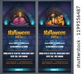 vector illustration halloween... | Shutterstock .eps vector #1199556487