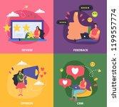 crm customer relationship...   Shutterstock .eps vector #1199557774