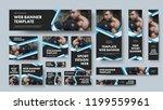set of black vector web banners ... | Shutterstock .eps vector #1199559961