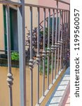 wrought iron tracery fence... | Shutterstock . vector #1199560057