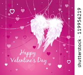 wings of love. valentine's day... | Shutterstock .eps vector #119956219
